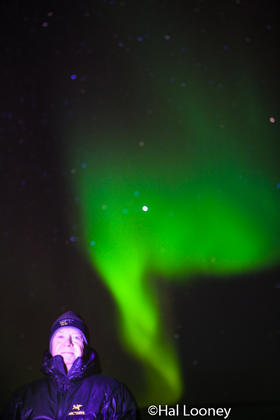 Hal and Aurora Borealis, Winter, Sub-arctic